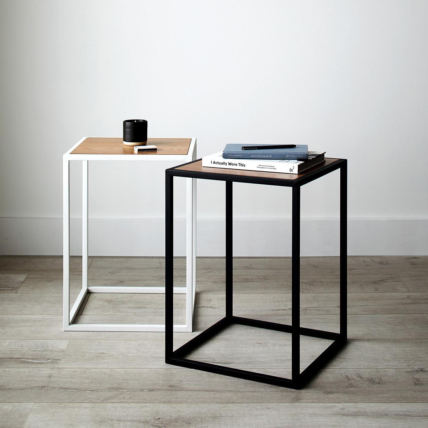 Tower Black Side Table Black Side Table White Side Tables Modern Side Table