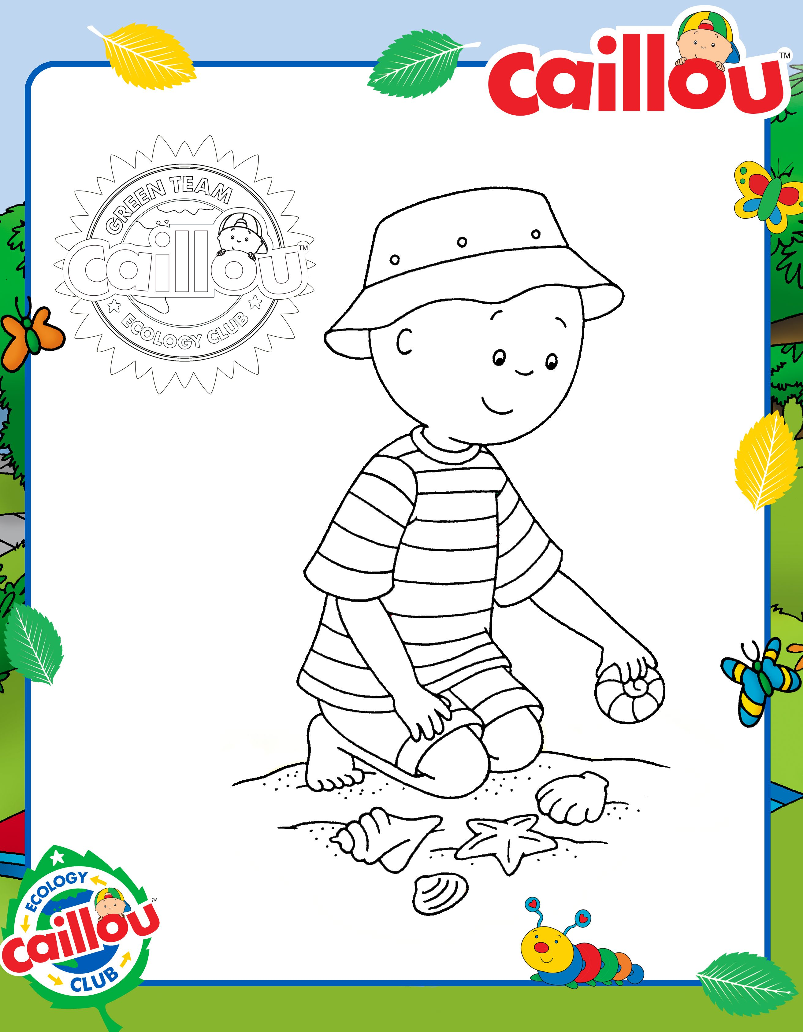 Let S Make Earthday A Beach Day With Caillou Can You