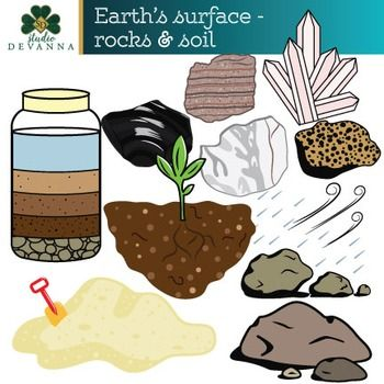 Earth\'s Surface - Rocks and Soil Clip Art | Primary Science Clip Art ...