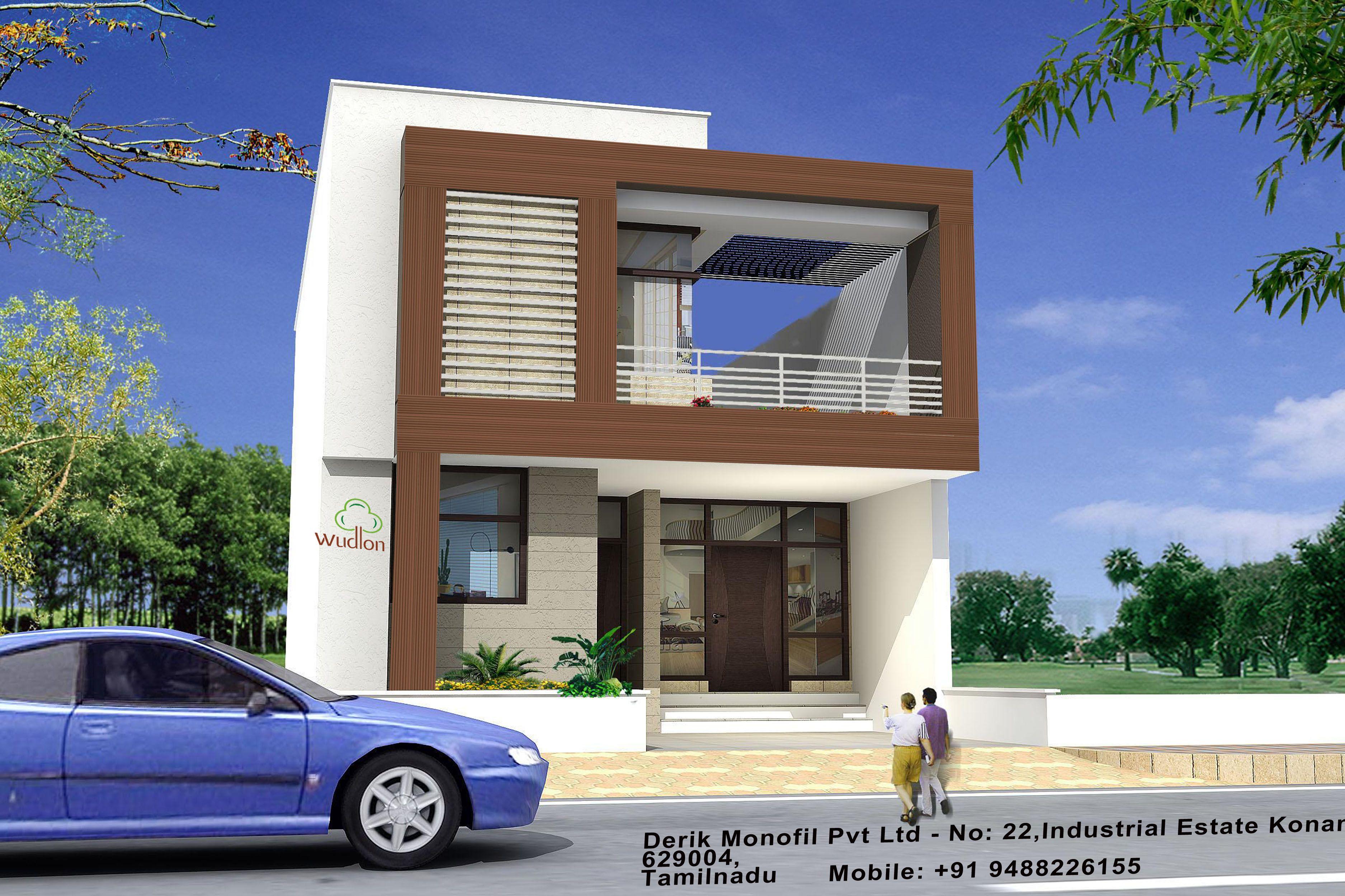 . wpc elevation cladding   WPC Elevation   Minimalist house design