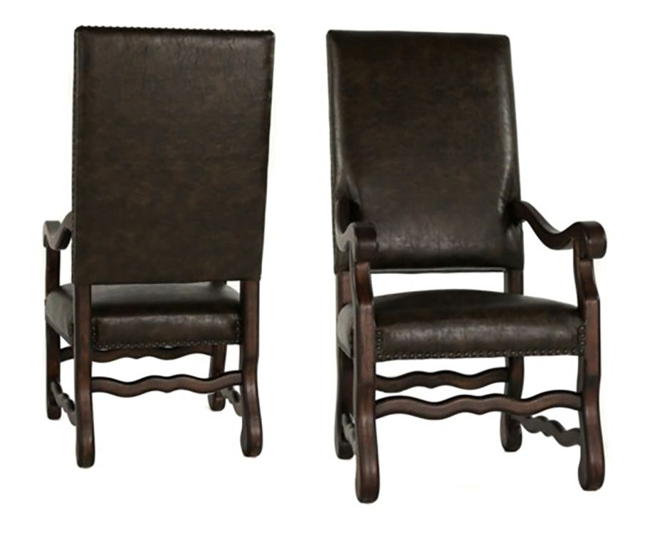 Ane Primo Chestnut Arm Chair Set Of 2 In 2020 Western Chair Chair Rustic Chair