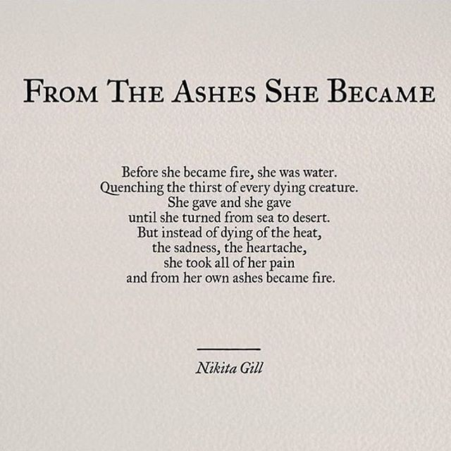 "Image of ""From the Ashes She Became"" by Nikita Gil"