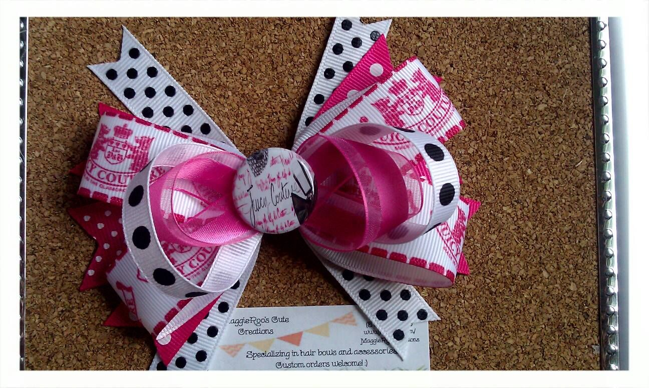 Juicy coutre hair bow wwwfacebookmaggierooscreations maggie