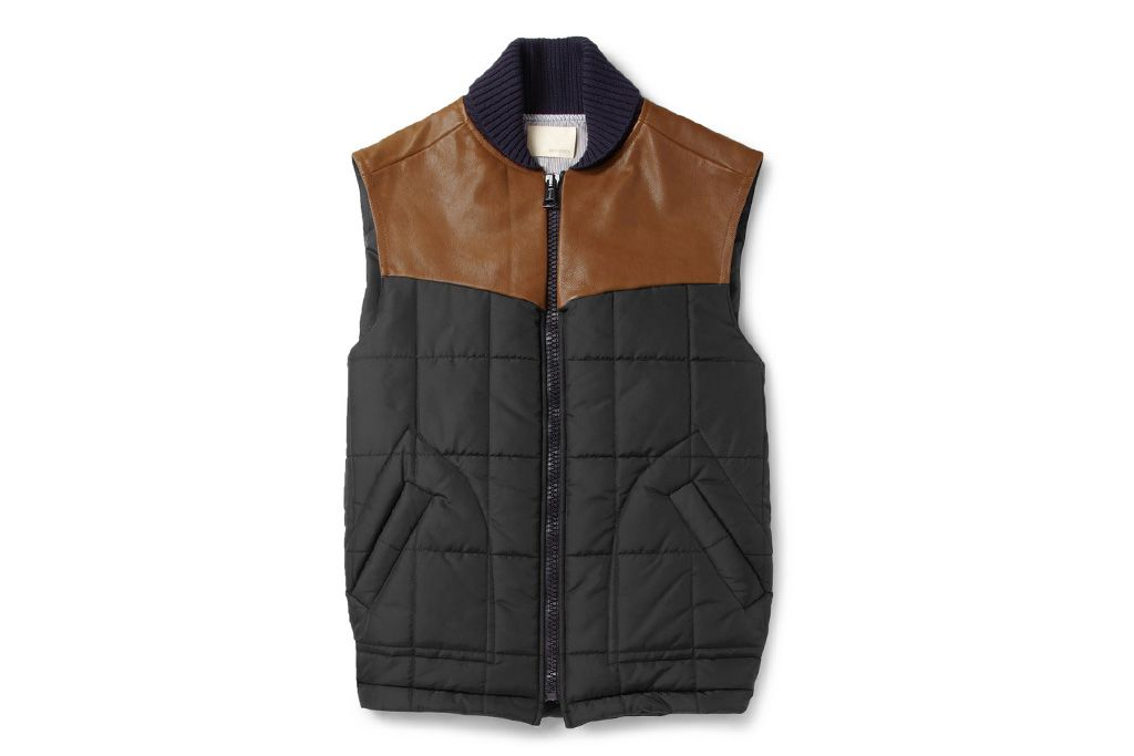 Band of Outsiders Leather Trimmed Quilted Vest | Hypebeast