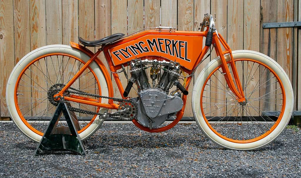 The Flying  Merkel - Rare early production  motorcycle.  0c71f9cfc