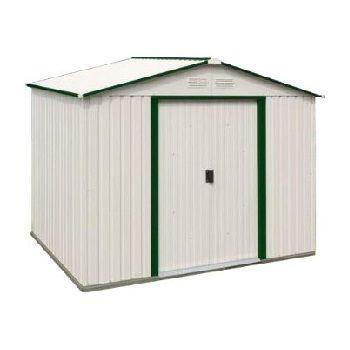 Duramax Del Mar Metal Storage Shed 50214 10x8 Green Trim Metal Storage Buildings Metal Storage Sheds Shed