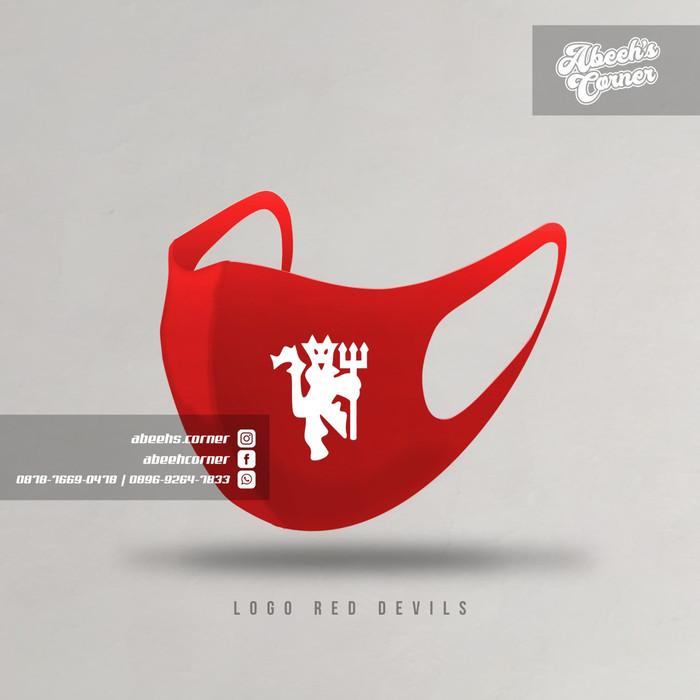Jual Masker Red Devils Logo Manchester United Masker Scuba Man Utd Dengan Harga Rp10 000 Dari Toko Online Abeeh S Corner Di 2020 Manchester Manchester United Merah