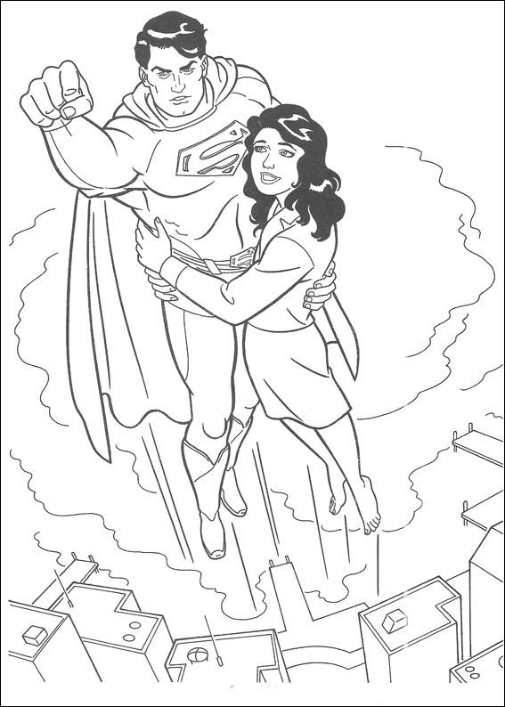Dibujos para Colorear Superman 36 | Peques
