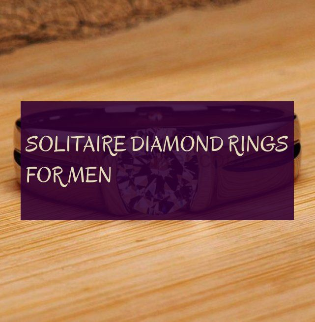 solitaire diamond rings for men