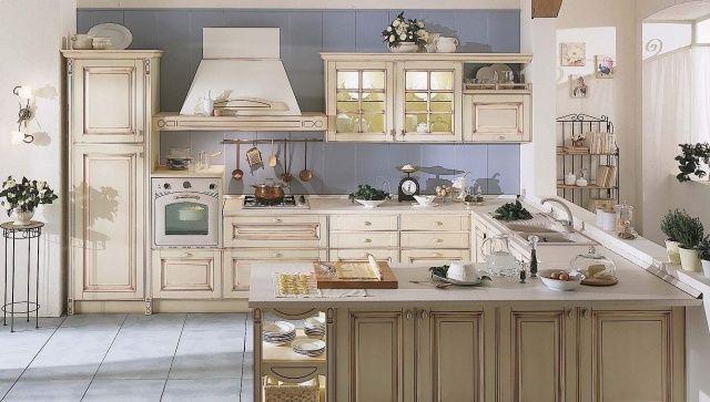 shabby kücheneinrichtung harmonisches ambiente zum kochen