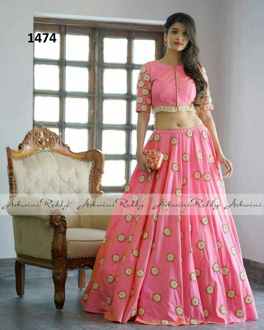 Attractive Baby Pink Lehenga Choli,new prty wear lehenga choli ...