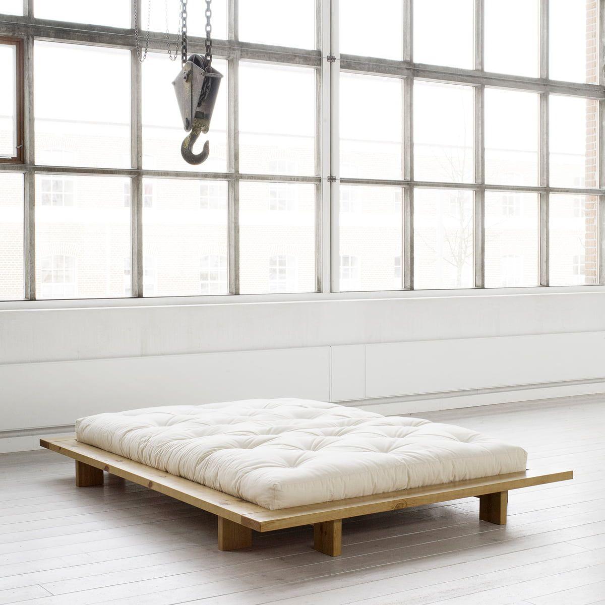 Karup Design Japan Bett 140 x 200 cm, Kiefer natur