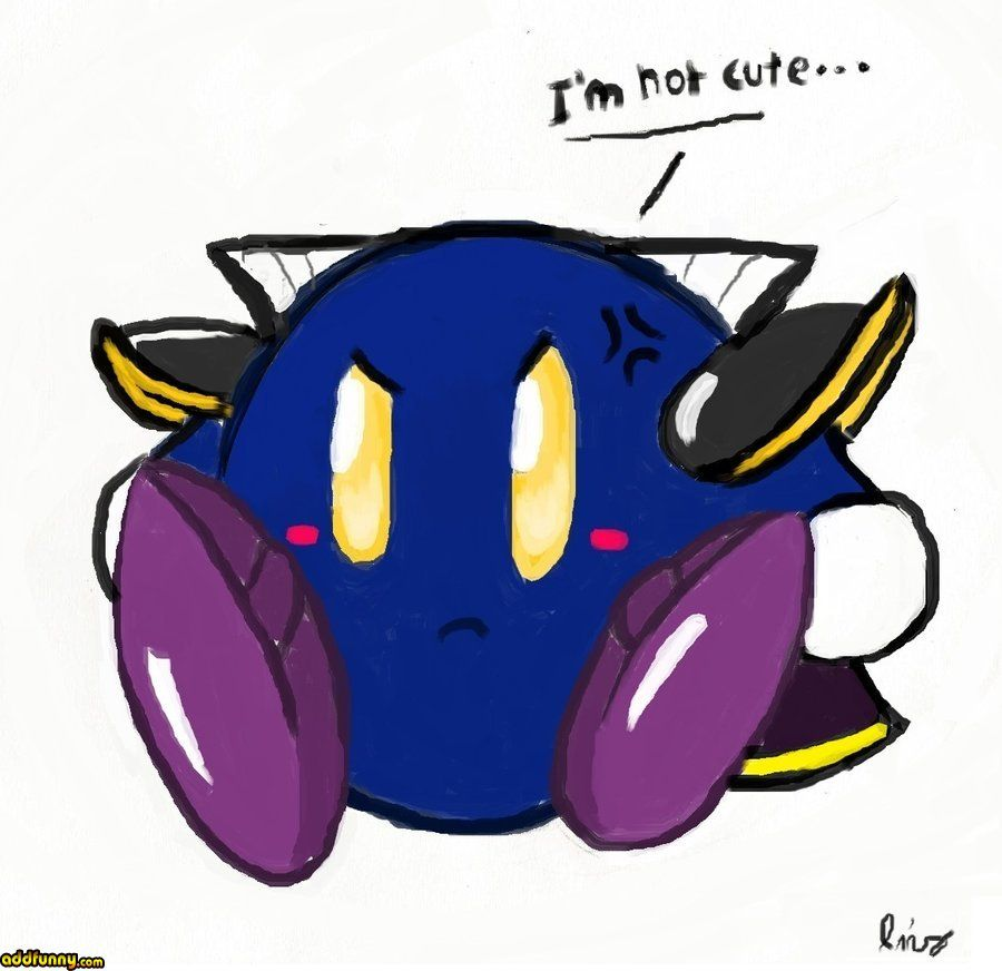 Meta knight without his mask, lol. games Funny Pictures