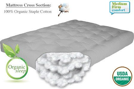 The Futon 8 Natural Organic California King Size Cotton Mattress Chemical Free