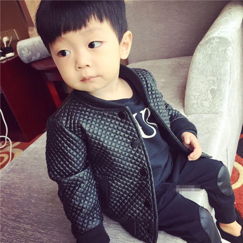 Toddler Leather Jacket 2017 Winter Baby Boy Pu Leather Jacket Plus