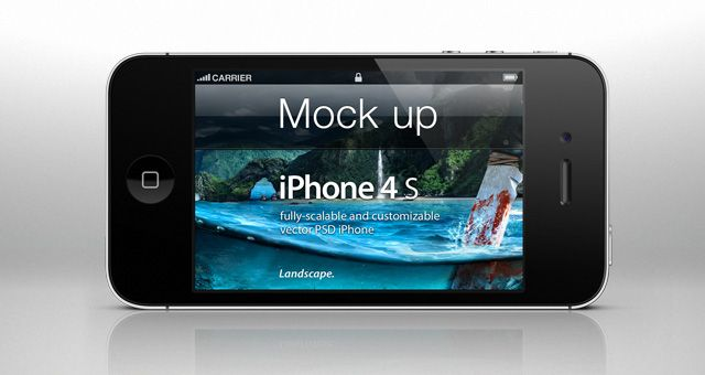 Download Iphone 4s Landscape Psd Mockup Iphone Mockup Psd Iphone 4s Joomla Templates Free