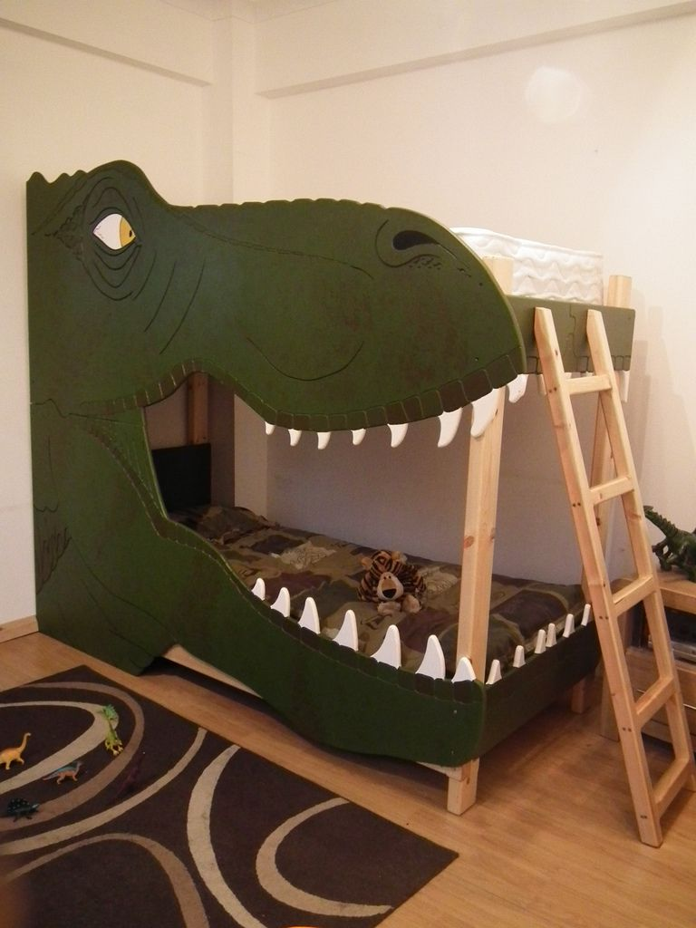 Dinosaur Bunk Bed In 2019 Kjs Room Bunk Beds For Boys