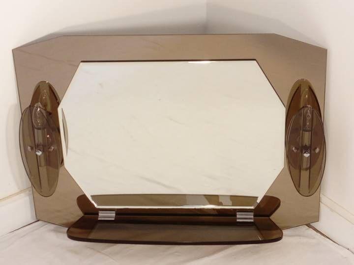 Miroir Fontana Arte Design Vintage années 1970