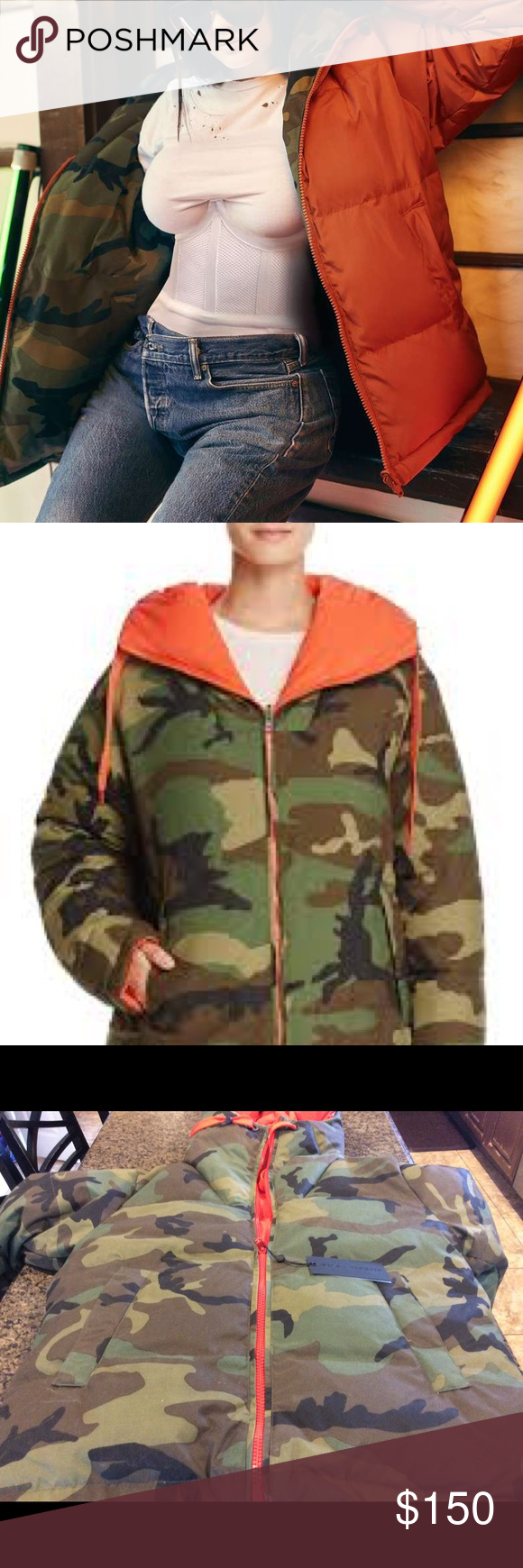 c82db4735148f Kendall and Kylie Camo Reversible Jacket Sz M The hunt for a tomboy-chic  topper