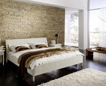 Camera da letto con parete di pietra | StoneWall | Pinterest | Legno