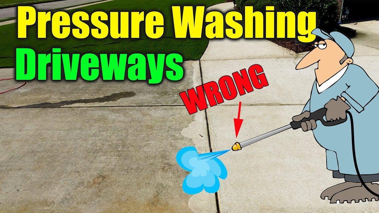 Pressure Washing Concrete Driveway YouTube Pressure
