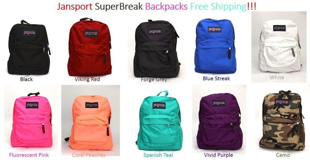 NWT JANSPORT SuperBreak Aqua Dash Backpack Girls Book Bag School Pack Padded NEW