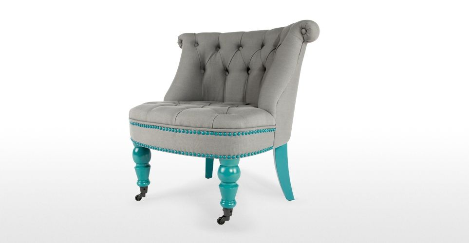 Sedie Turchesi ~ Bouji chair in pavilion grey and turquoise blue sedie turchese