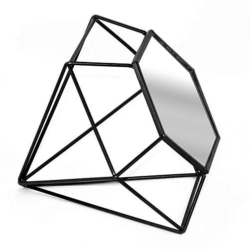 Diamond Miroirs Vases Objets De Deco Miroir En Forme De Diamant Couleur Noire Mobilier De Salon Miroir Miroir Noir