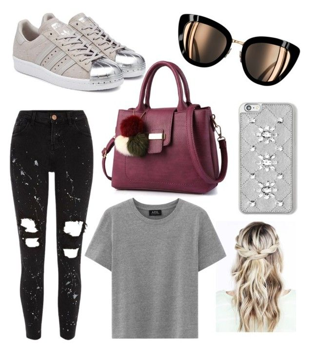 """""""Faves"""" by peytongirl on Polyvore featuring River Island, adidas Originals and MICHAEL Michael Kors"""