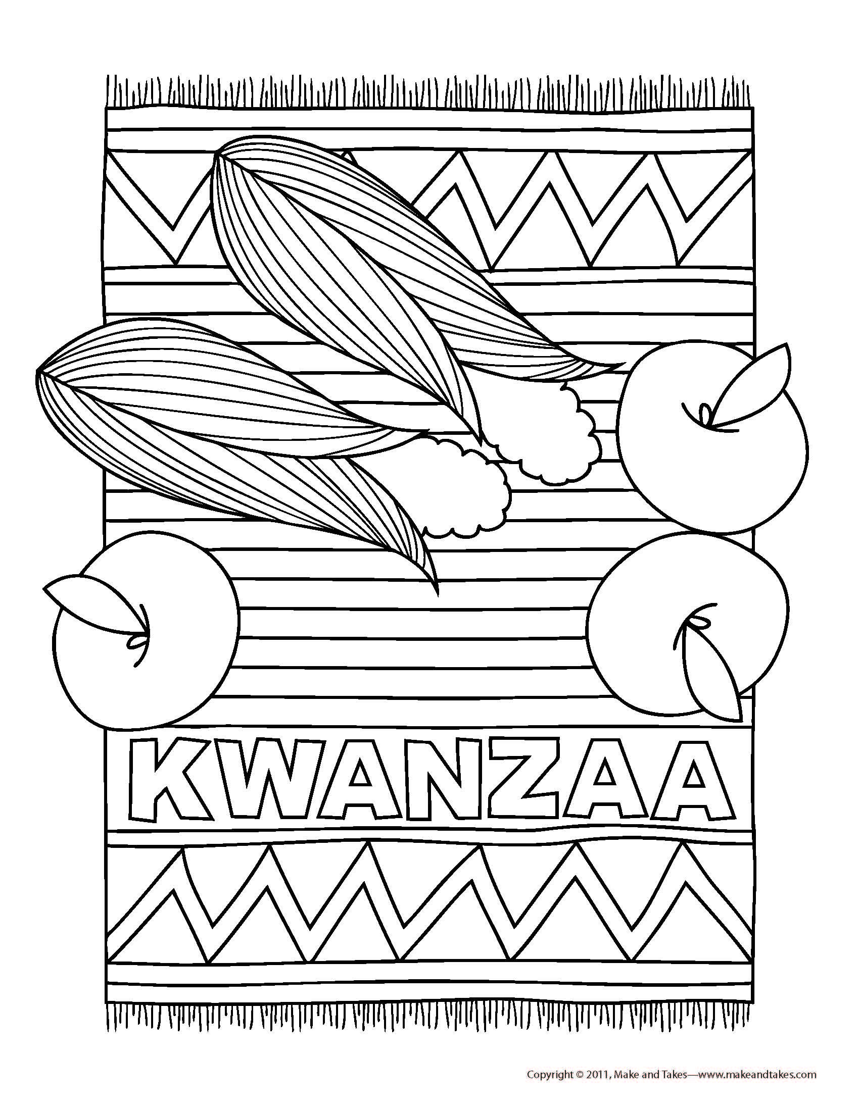 Kwanzaa colouring page Find more