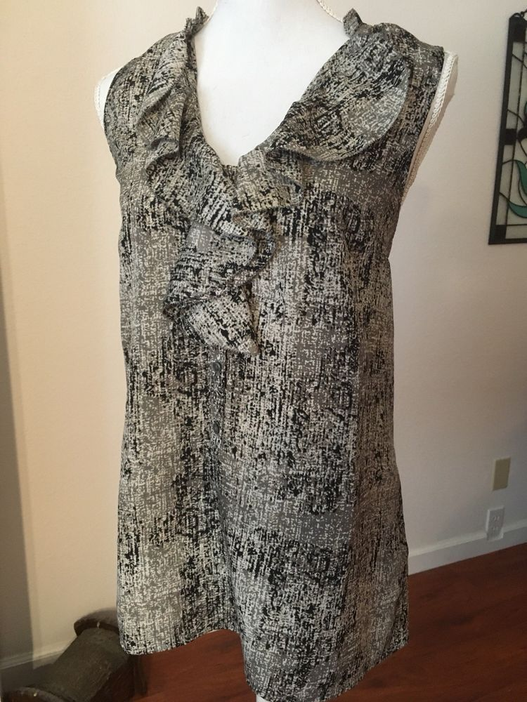8f4af48396bcc Ladies Dressy Sleeveless Top with Ruffle Detail by Mossimo Size L  fashion   clothing