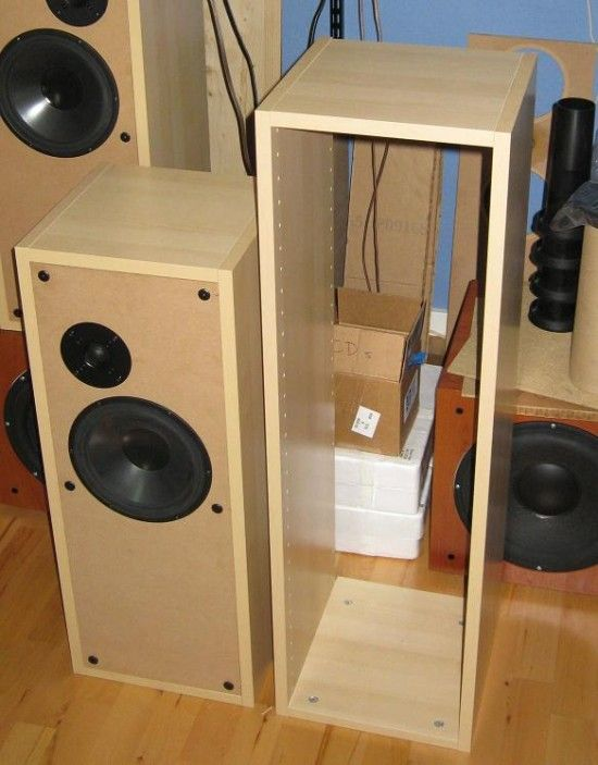 IKEA kitchen cabinets to make BaffleXchange speaker boxes | Home ...