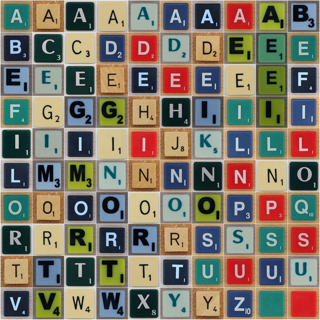 The 100 English Scrabble Letters Letras Para Imprimir Tipos De Letras Scrabble Letras