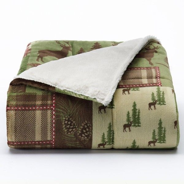 Kohls Throw Blankets Best Cuddl Duds Cozy Soft Downalternative Throw Green 40 Cad Review