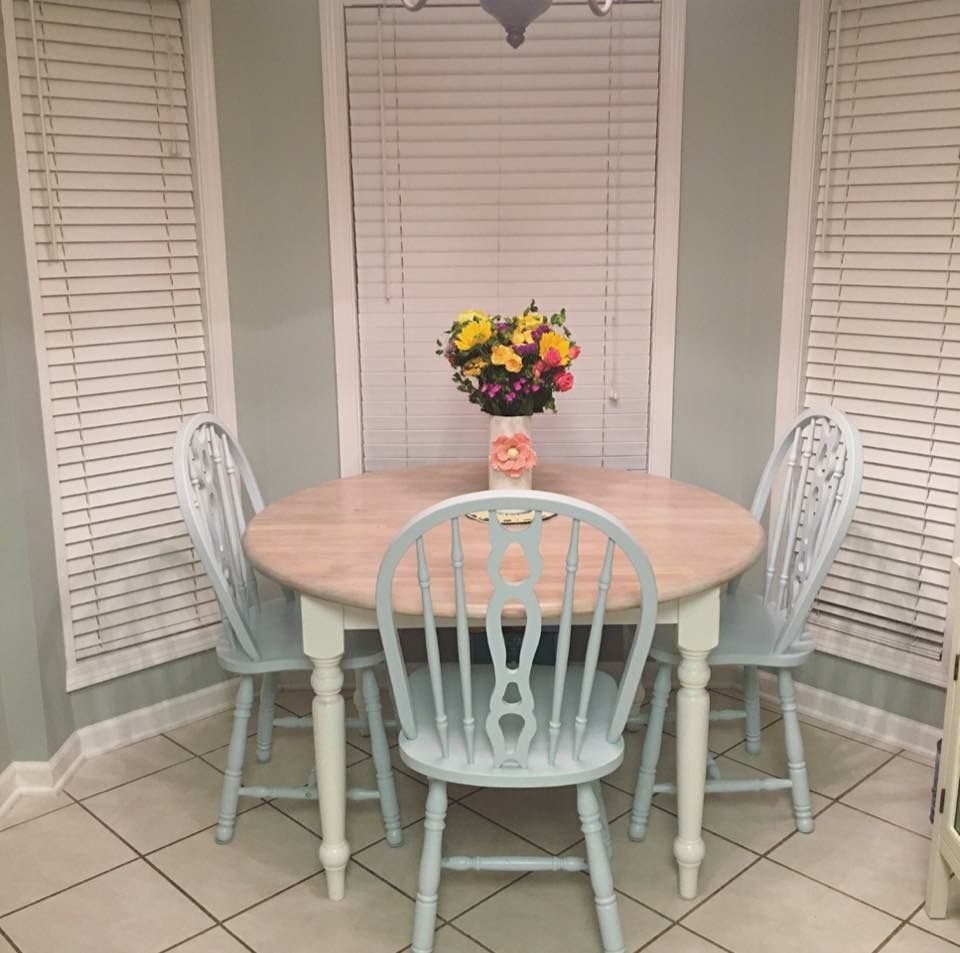 weathered wood dining table. Diy Table Blue Chairs Pickled Oak Stain Weathered Pickling Wood Dining Shabby Chic