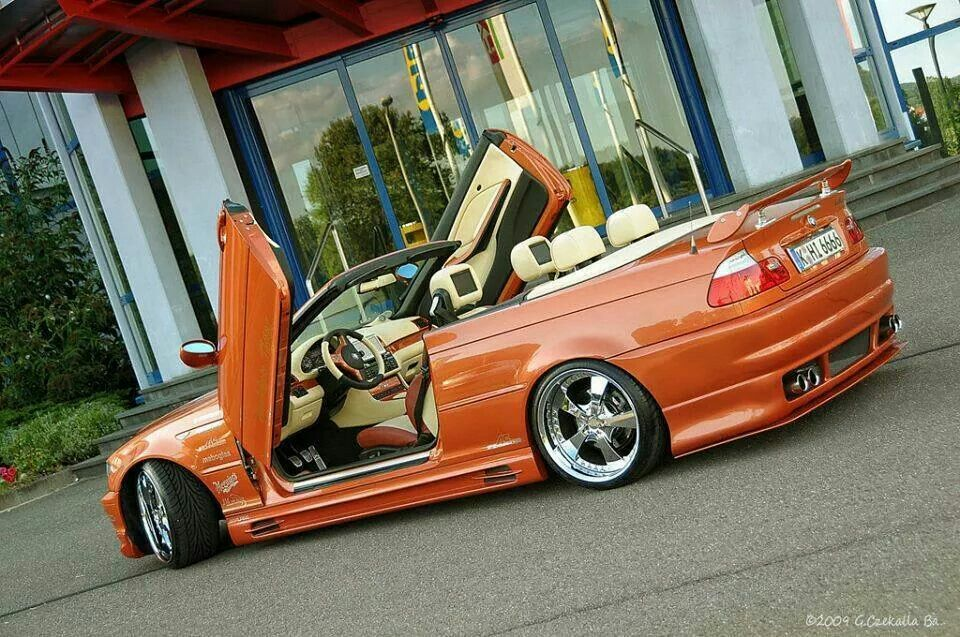 Bmw E46 3 Series Cabrio Orange Slammed Lambo Doors Bmw Bmw E46