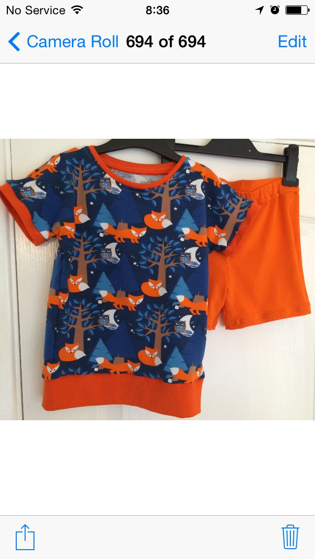 Dolman t-shirt and fabric from @kitschycoo Birthday pyjamas for Jack