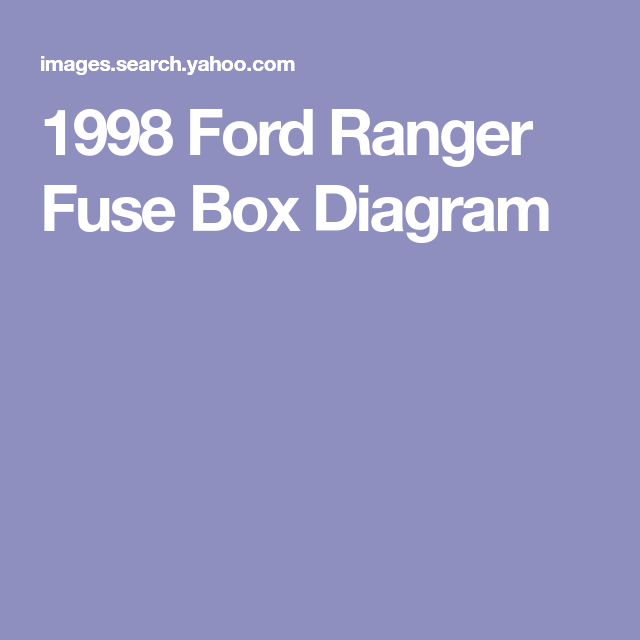 1998 Ford Ranger Fuse Box Diagram  With Images