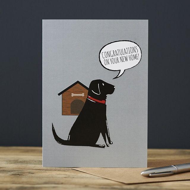 Black Labrador New Home Card
