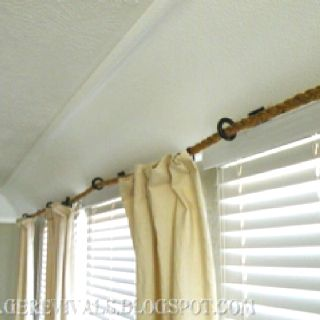 Eye Hooks Rope Used As A Curtain Rod Vintage Revivals