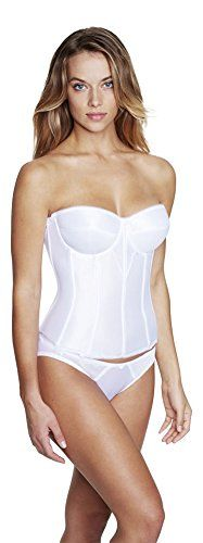 c8236eb51d61b Dominique Longline Strapless Smooth Torsolette Bra 48DD White     Learn  more by visiting the image link.