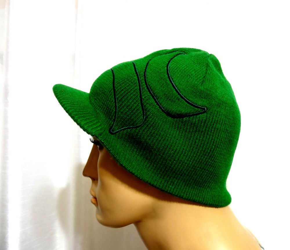 Hurley surf skate ICONIC LOGO Reversible green visor beanie hat one size  NEW  Hurley  visorbeanie 168a1b4a9ce