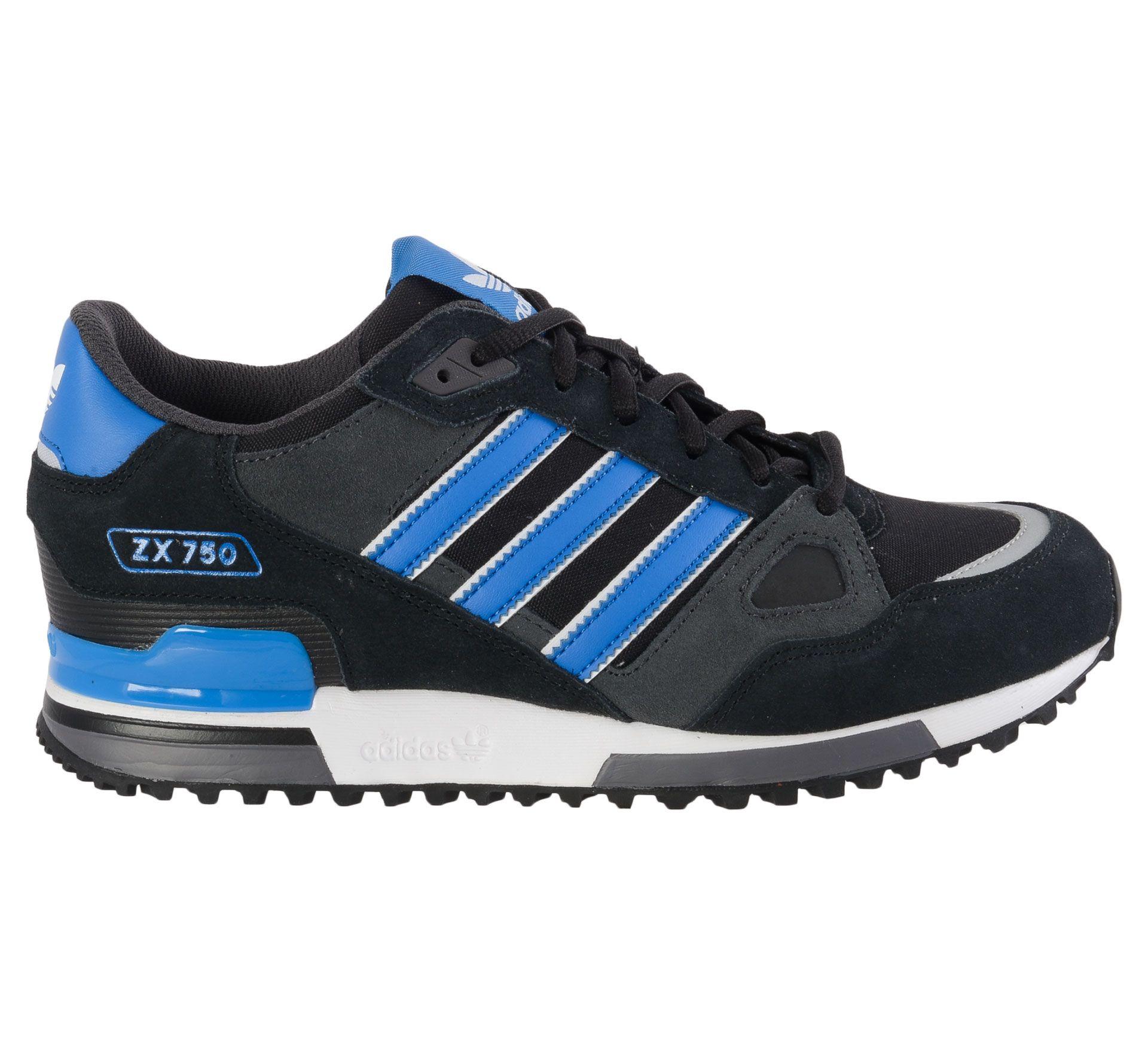 adidas originals heren zx 75 sneakers blauw