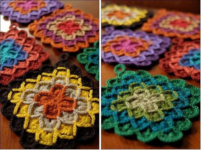 Crochet Box Stitch Squares Pattern