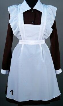 Как сшить фартук для школьного платья