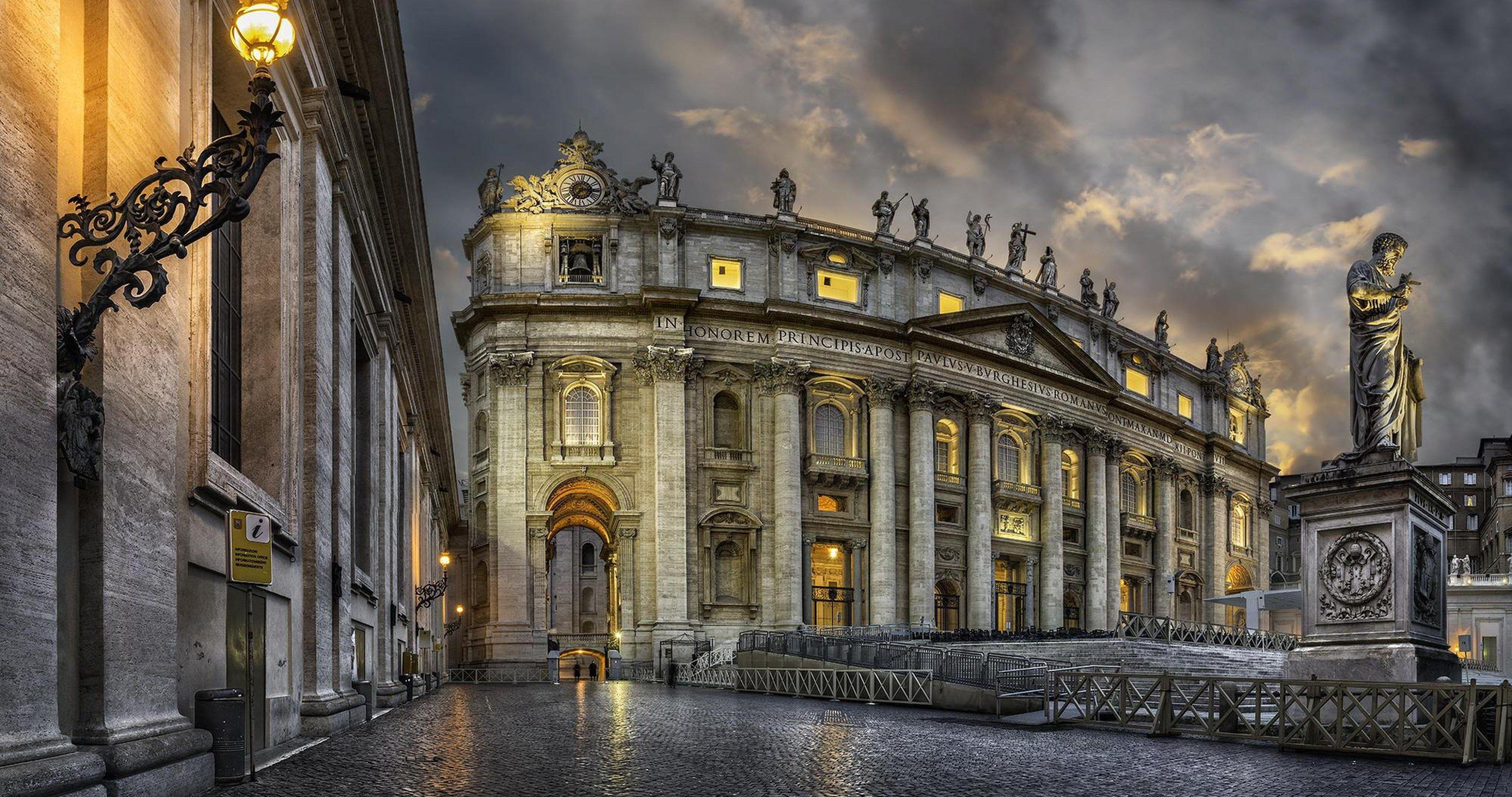 Vatican City Basilica De San Pedro 4k Ultra Hd Wallpaper