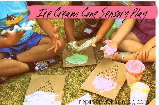 Kids Activity: Ice Cream Sensory Play Activity