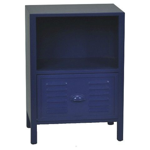 Kids Accent Table Locker Front Blue