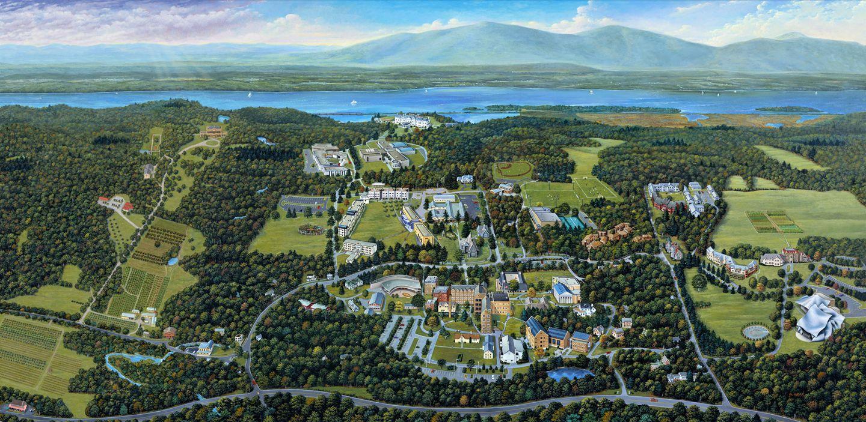 Mark Hess Illustration Bard College Map Project Illustration