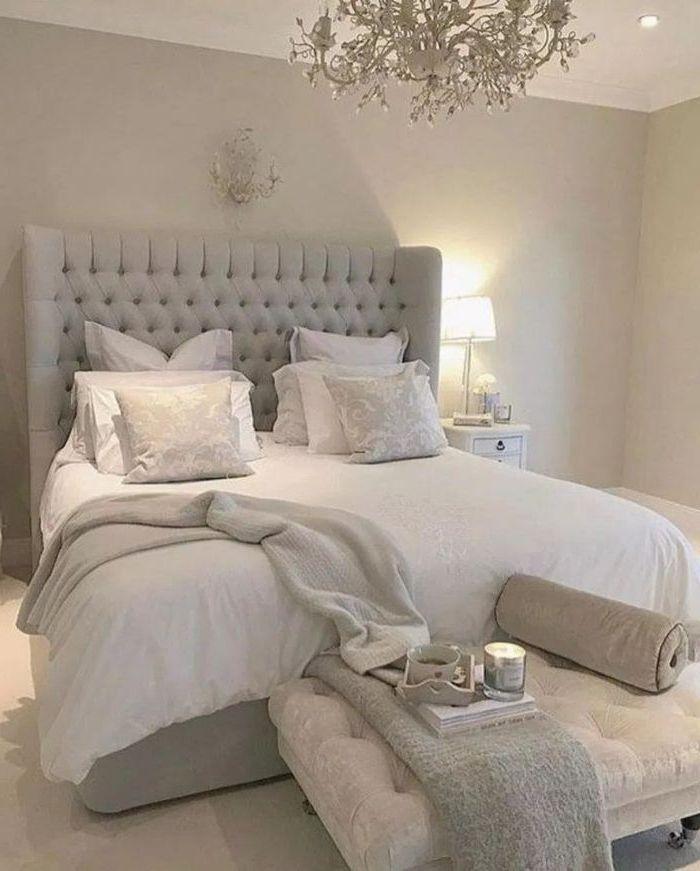 Wandgestaltung Schlafzimmer Weisses Schlafzimmer Graues Design